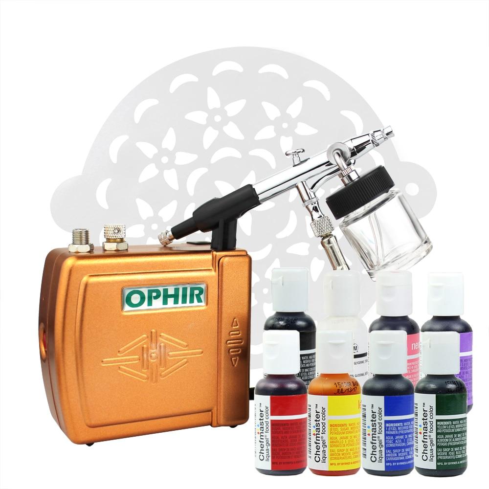 Набор инструментов OPHIR Aibrush для украшения тортов, инструменты для украшения тортов с трафаретом для торта, пищевые красители, пищевые пигмен...