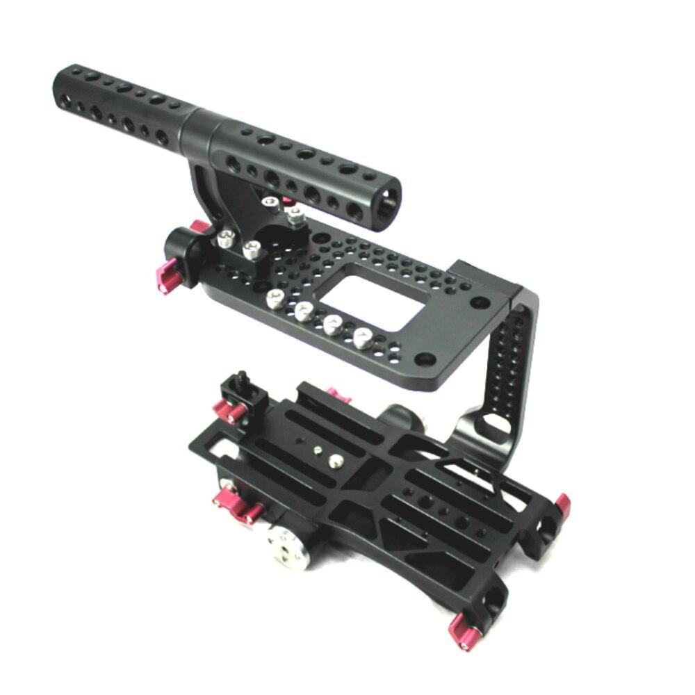 Hontoo 15mm FS7 Rig Kit Käfig + Top Griff + Grundplatte für Sony FS7 kamera 15mm system Tilta Movcam