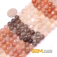natual gem stone multi color moonstone round beads for necklace bracelet jewelry making strand 15 4mm 6mm 8mm 10mm selectable