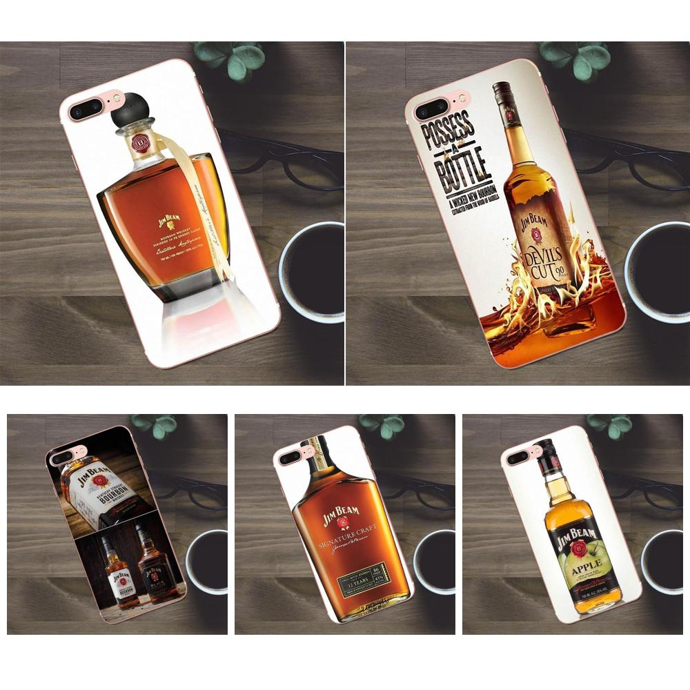 Bixedx Jim Beam vino para Apple iPhone 4X4 4S 5 5C SE 6 6 S 7 8 Plus Galaxy a3 A5 J1 J2 J3 J5 J7 2017 caja del teléfono de TPU