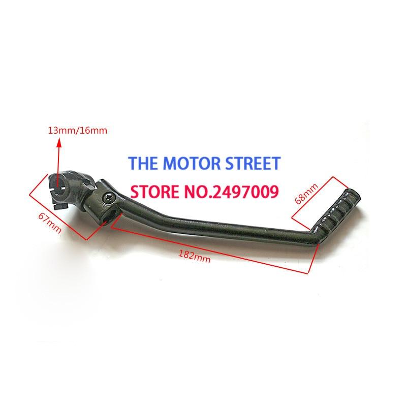 Envío Gratis 13/16 MM palanca de arranque para YAMAHA PW80 PY80 YX 155Z 140cc 150cc 160cc dirt pit piezas de repuesto para bicicleta y ATV
