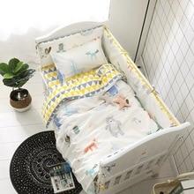 6/9PCS Bear Cartoon Baby Cartoon Bedding Sets cama infantil Baby Sheet Bumpers Pillow Blanket Whole set