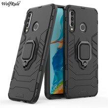 Pour Huawei P30 Lite étui porte-anneau support armure pare-chocs pochette de protection arrière étui de téléphone pour Huawei P30 Lite couverture 6