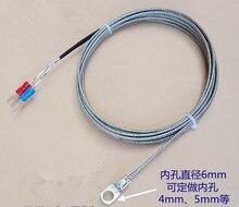 10 pcs/lot K E type SMD Surface thermocouple pressage à froid nez Pt100 capteur de température trou rond sonde de mesure de température