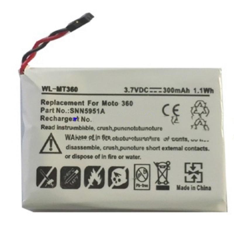 TTVXO 300mAh Battery SNN5951A for Smartwatch Motorola Moto 360 WX30  Battery
