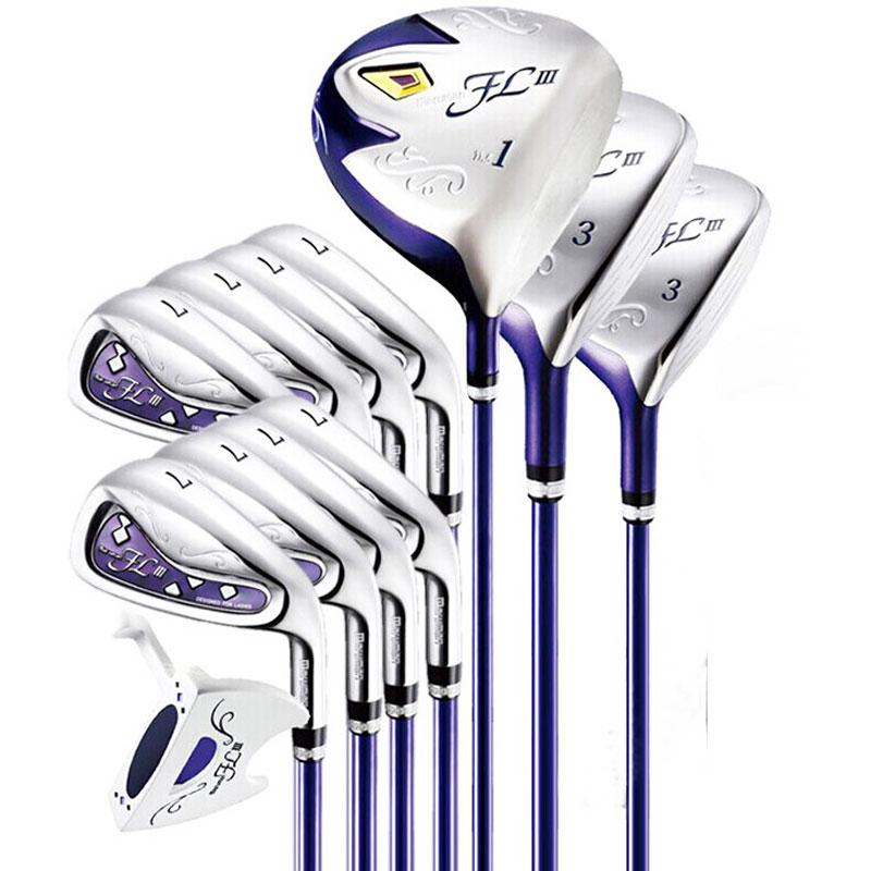 Nouveau femmes clubs de Golf Maruman FL III pilote + fairway bois + fer + putte Golf ensemble complet de clubs Graphite Golf arbre livraison gratuite