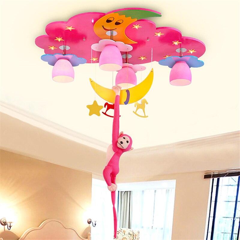 Pink children's room light Princess bedroom lamp cartoon ceiling lamp