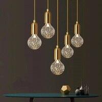 Vintage Loft Crystal Pendant Light Glass Ball Drop Hanging Light DIY Spider Crystal Bulb Lighting Fixture For Indoor Lighting
