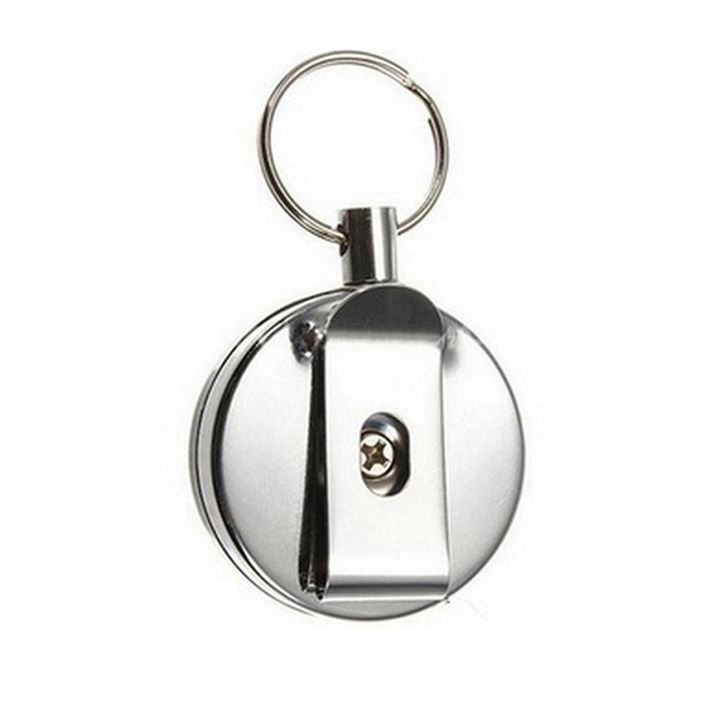 1 unidad de Metal retráctil tarjetero de acero anillo de retroceso Clip de cinturón tire llavero 1 OPG Búsqueda en oferta