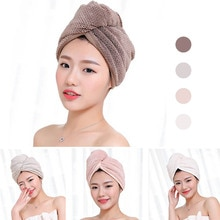 23*60cm 1 Pc Quick Dry Towels Microfiber Fabric Dry Hair Hat Shower Cap Lady Turban  Bath Towel Abso