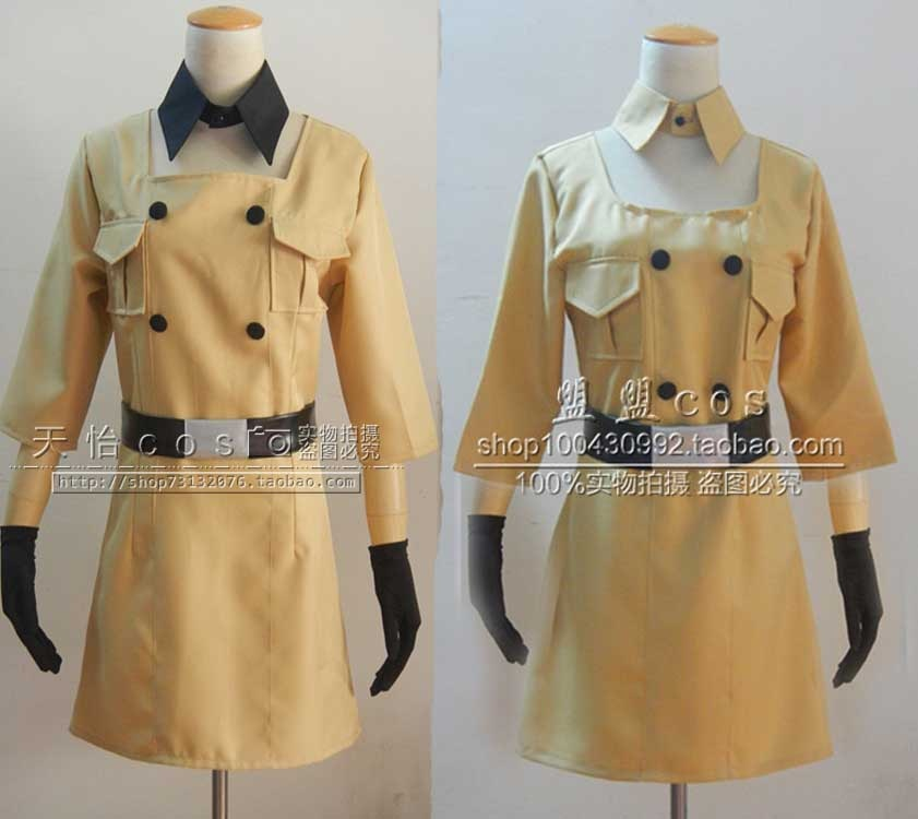 Hetalia Axis Powers Süden Italien Romano Reversion Weibliche Körper COS Kleidung Cosplay Kostüm mit handschuhe