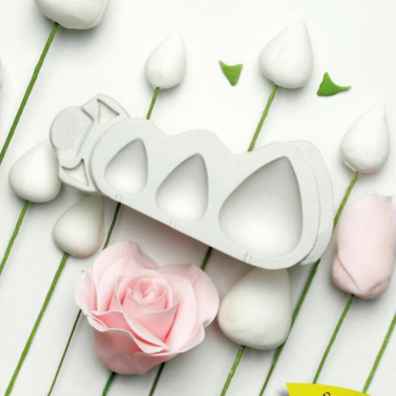 Flor Rosa conos y espinas textura molde silicona molde Fondant pastel decoración herramienta goma Sugarcraft Rosebud formas