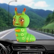 Voiture ornement mignon Abs chenille secouant tête poupée Automobiles intérieur tableau de bord décoration jouets dessin animé Auto accessoires cadeau