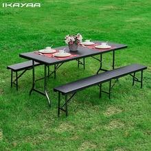 IKayaa 6FT DE Camping plegable mesa DE Picnic portátil fiesta DE jardín barbacoa Comedor Cocina mesa DE muebles al aire libre nos DE valores FR