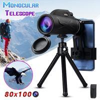 Монокуляр 80x100, портативный, HD, мощный, для охоты