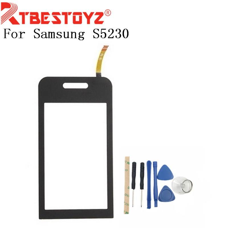RTBESTOYZ 3.0 polegadas Painel da Tela de Toque Sensor de Peças Lente de Vidro Com Ferramentas + Peças de Reposição de Toque Digitador Para Samsung S5230