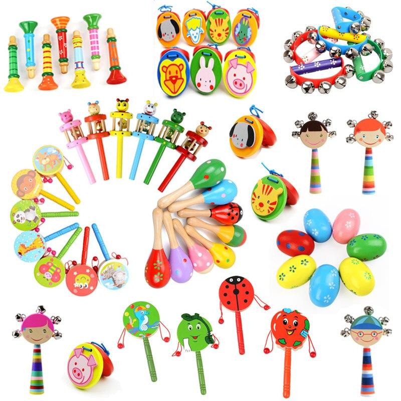 Деревянные погремушки-погремушки, детский музыкальный инструмент для вечеринки, развивающая игрушка для детей, 1 шт.
