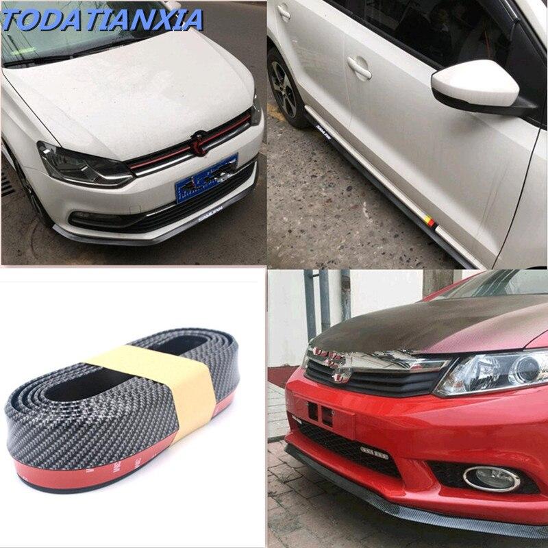 2020 novo estilo do carro amortecedor dianteiro lábio adesivo protetor para peugeot 508 audi a3 8p ix35 assento ibiza citroen c4 acessórios