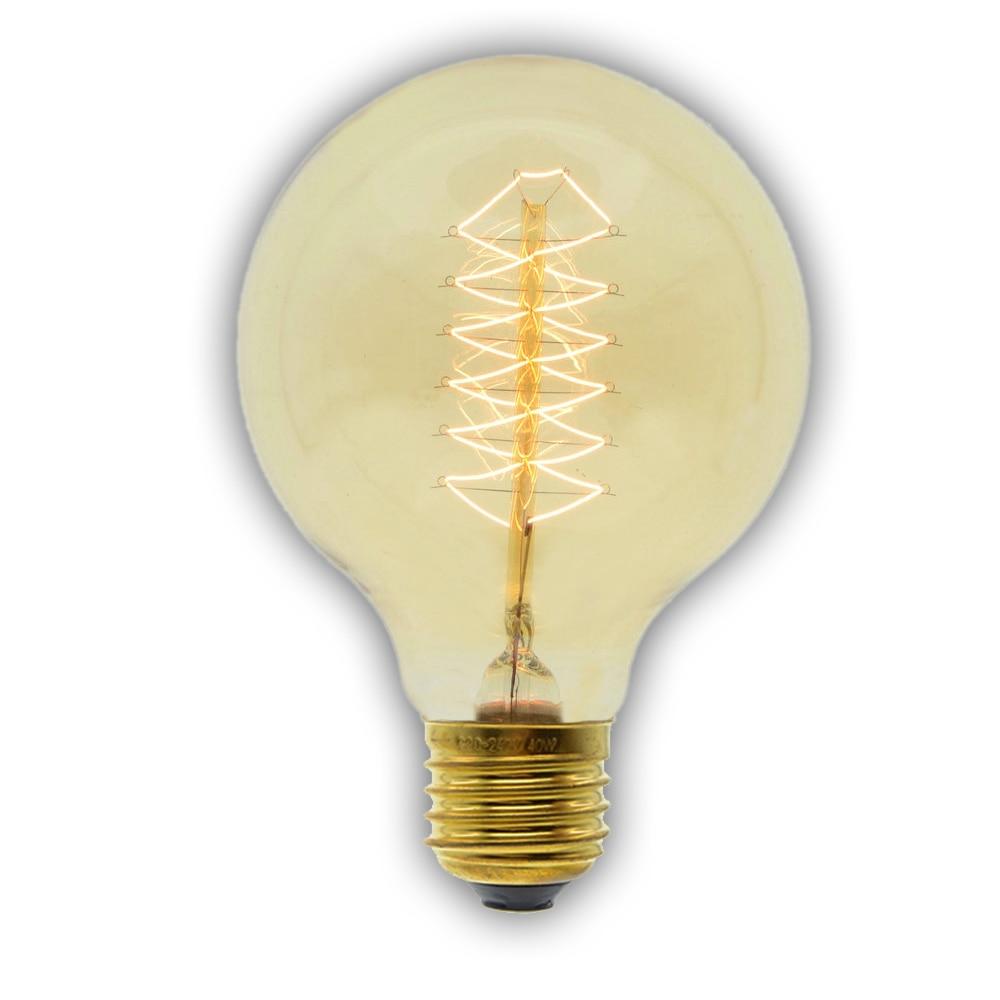 Bombilla incandescente Edison Retro Vintage 40 W/60 W 220V E27 G80 Lámpara decorativa antigua incandescente Lámpara decorativa de filamento para el hogar