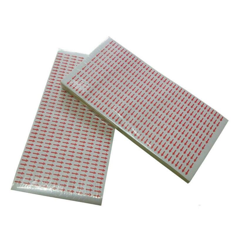 3800 Uds. Pegatinas de marca de flecha de producto defectuosas personalizadas indica error artículos color rojo accesorio para etiquetas herramienta