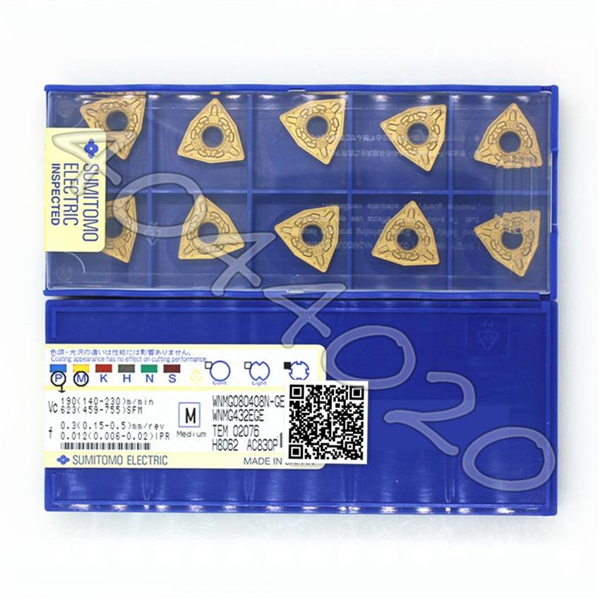 WNMG080408N-GE AC830P 10 قطعة/صندوق سوميتومو جديد الأصلي شفرة من الكربيد