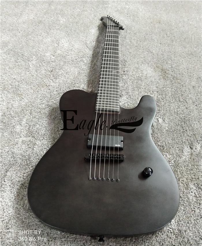 Águia. Borboleta, baixo elétrico, guitarra elétrica loja personalizada, 22 preto fosco personalizado metal rock tele 7 cordas guitarra elétrica.