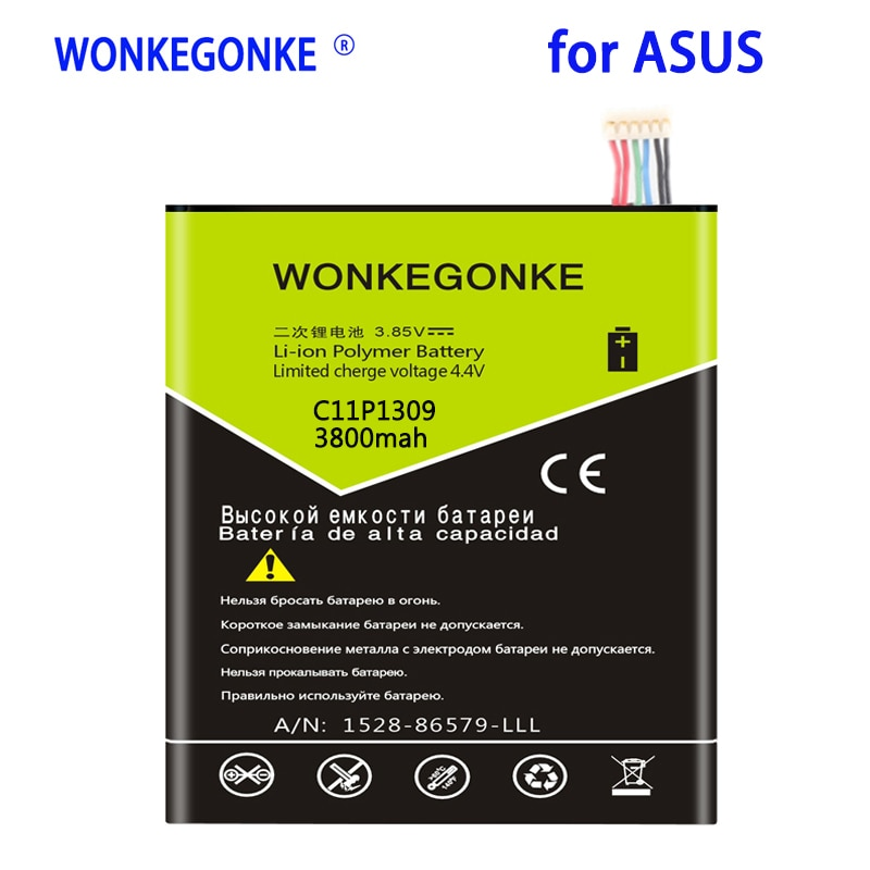 WONKEGONKE 3800 mah C11P1309 batería del ordenador portátil para Asus Fonepad Note...