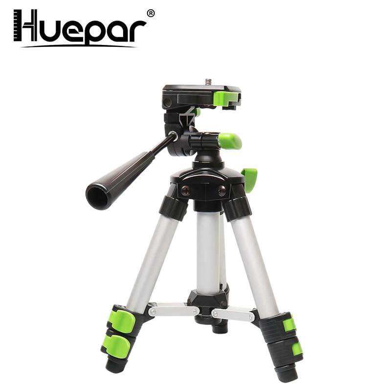 """Huepar portátil de aluminio ajustable trípode para nivel láser cámara con 3-forma Flexible cabeza de burbuja de nivel 1/4 """"-20 MONTAJE de tornillo"""