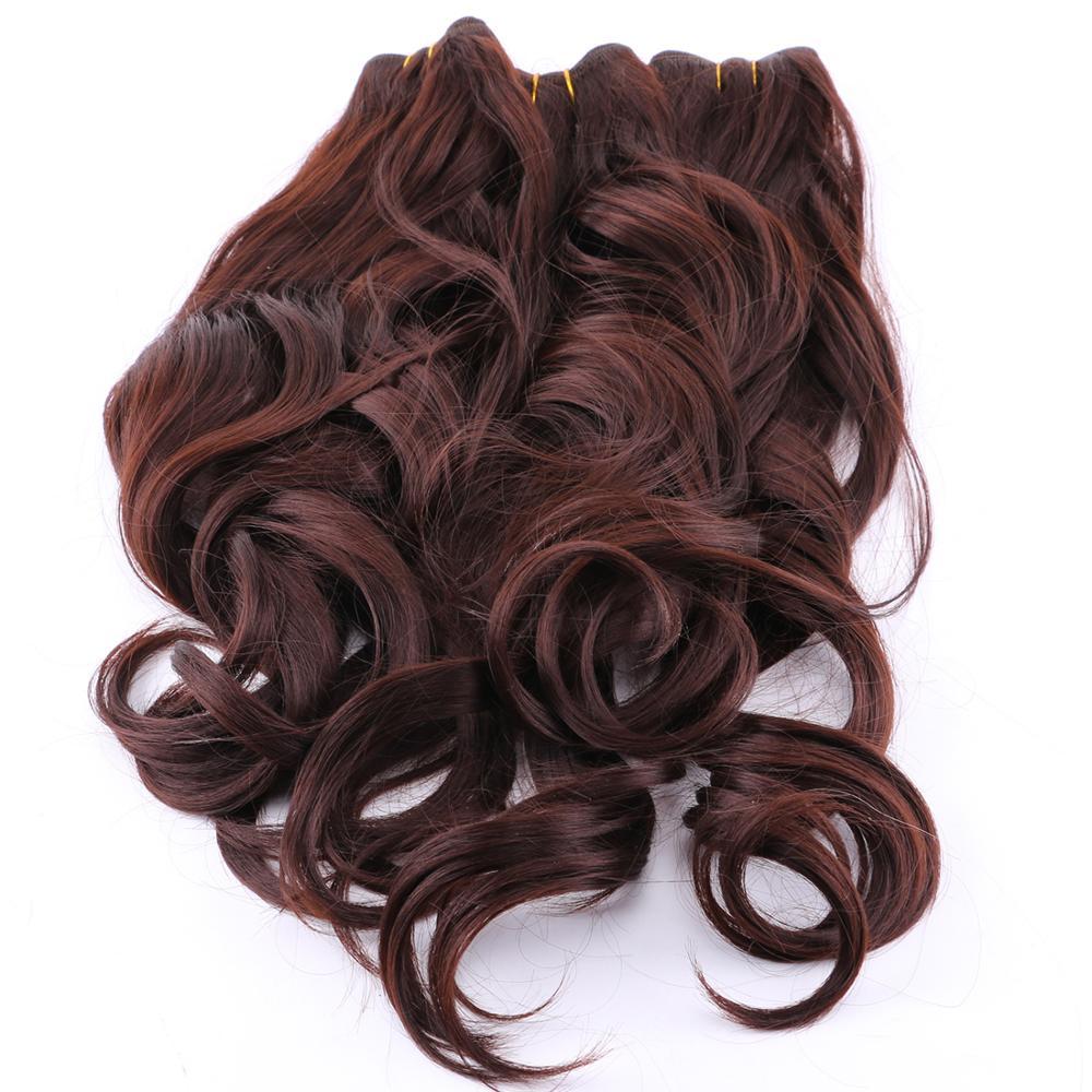Mechones de pelo de fibra sintética 100% ondulada de REYNA 100% resistente al calor
