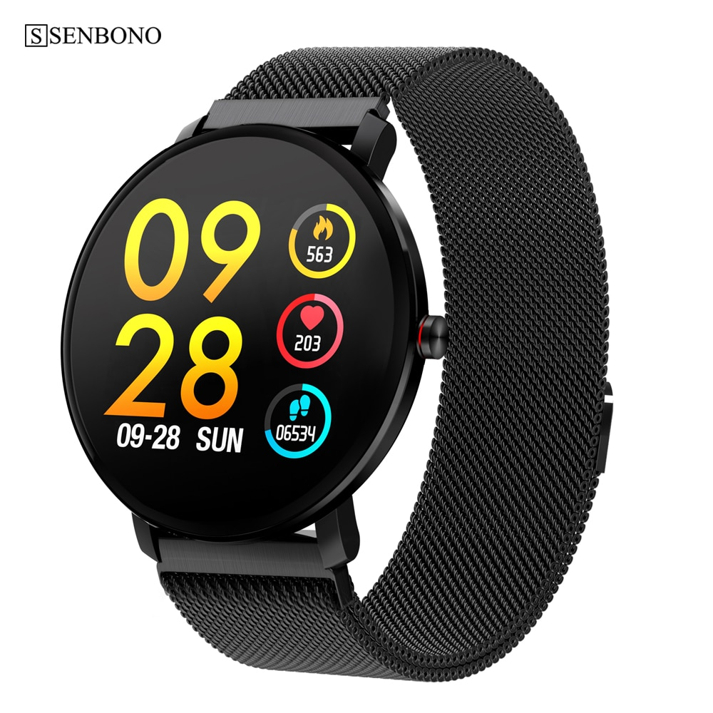 Reloj inteligente con pantalla táctil SENBONO K9 Sport Bluetooth de 1,3 pulgadas, rastreador de Fitness para hombres, IP68, resistente al agua, reloj inteligente para mujeres PK v11 K1
