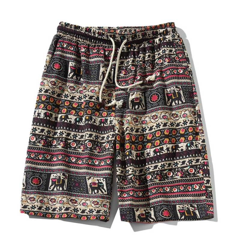 Summer Casual Men Shorts Printed Summer Fashion Cotton Men's Beach Bermuda Shorts 4XL 5XL