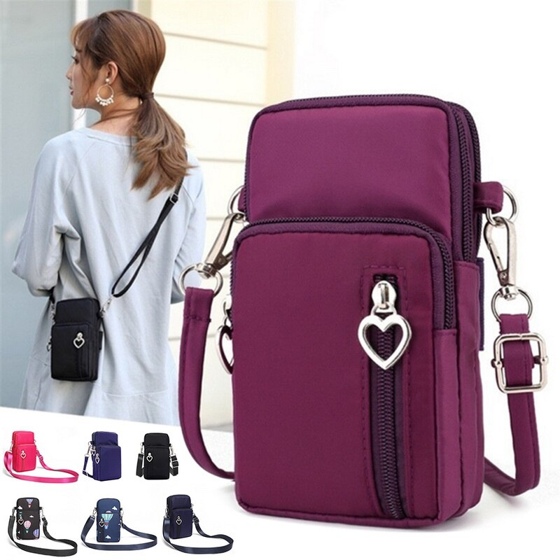 Vertvie Women Sports Mini Square Bags Messenger Cellphone Pouch Key Wallet Arm Phone Bag Outdoor Run