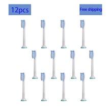 12p/8p HX-6054 Generic Electric Sonic Replacement Brush Heads Fits For Philips Sonicare HX6500/HX6511/HX6530/HX6710/HX6711/RS950