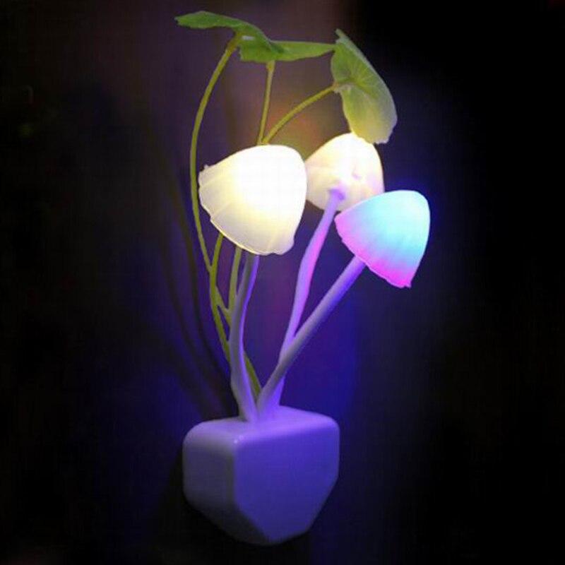Z30 novedad creativa luz de noche EU/Estados Unidos enchufe la luz Sensor 3LED Led AC110V-220V luces de noche para bebé lámpara de setas de colores