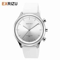 EXRIZU Men Women Quartz Smart Watch Bluetooth Smartwatch Activity Tracker Sport 5ATM 50M Waterproof SOS Key Luminous Needles