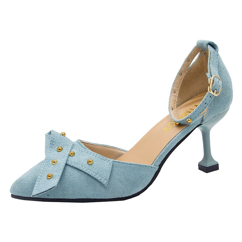 Rebite Mulher Sandálias Verão 2019 Moda Sapatos de Salto Alto Senhoras Sandálias de Cunha Mulher Sapato UE 34 35 36 37 38 39 40 preto Azul