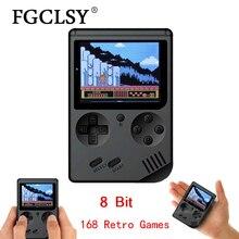 Consola de videojuegos FGCLSY 2019 de 8 bits, Mini juegos Retro de mando de bolsillo integrado en 168, consola de juegos nostálgica de juegos clásicos