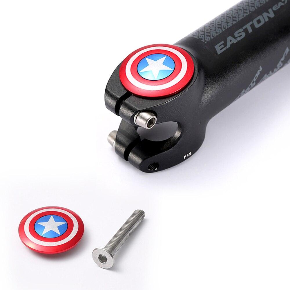 """Верхняя крышка для руля велосипеда с винтовой крышкой для гарнитуры Captain America 28,6 мм 1 1/8 """"Steerer вилка трубка 5"""