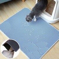Складной коврик для кошачьего туалета, водонепроницаемая двухслойная подстилка из ЭВА с нескользящим основанием для сбора кошачьего туале...