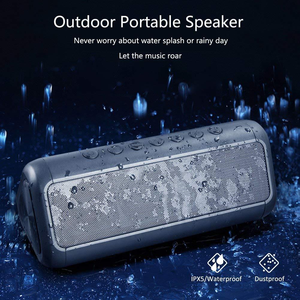 Altavoz portátil inalámbrico bajo Bluetooth bajo columna energía Solar Subwoofer impermeable barra de sonido teléfono Woofer boombox para xiaomi