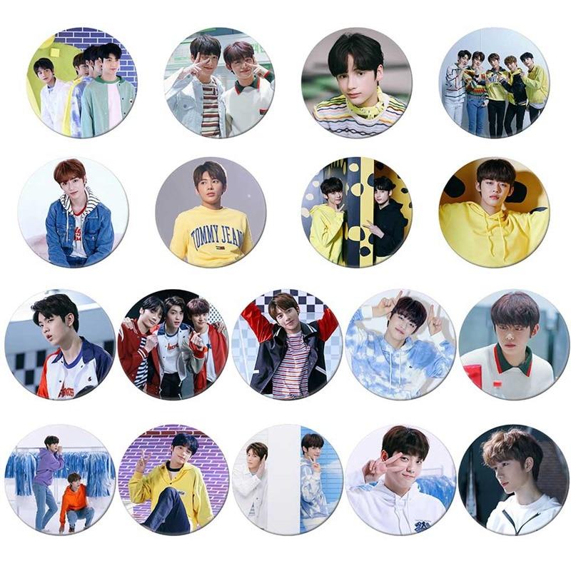 1pcs 2019 TXT mañana X juntos álbum placa broche colección placas para mochilas para Decoración