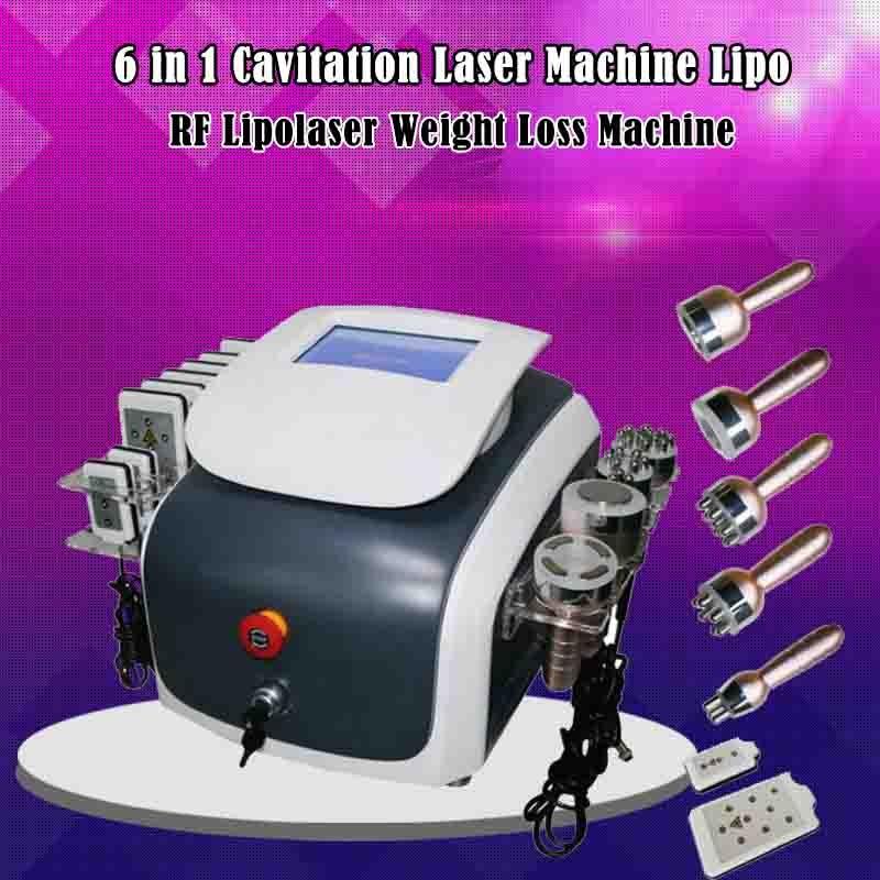 Máquina de adelgazamiento por cavitación al vacío Multipolar RF cuatro Polar RF seis Polar RF 650NM diodo Lipo