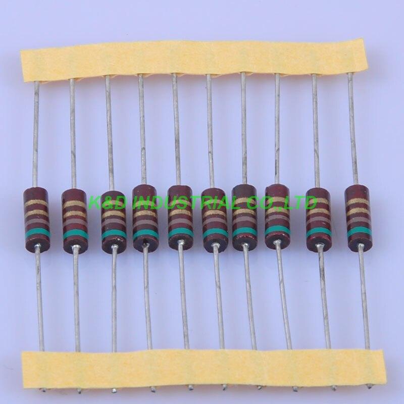 10 Uds carbono composición resistor retro 0,5 W 5.1R 0.33ohm