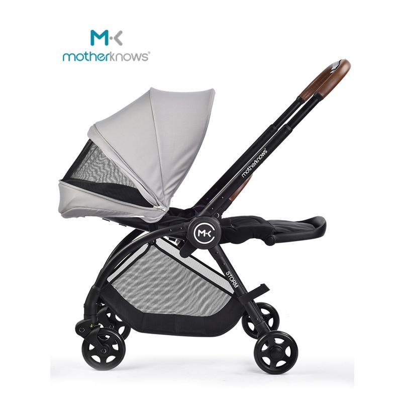 Baby Stroller High Landscape Two Way Lightweight Folding Can Sit Lie Newborn Be Reversing