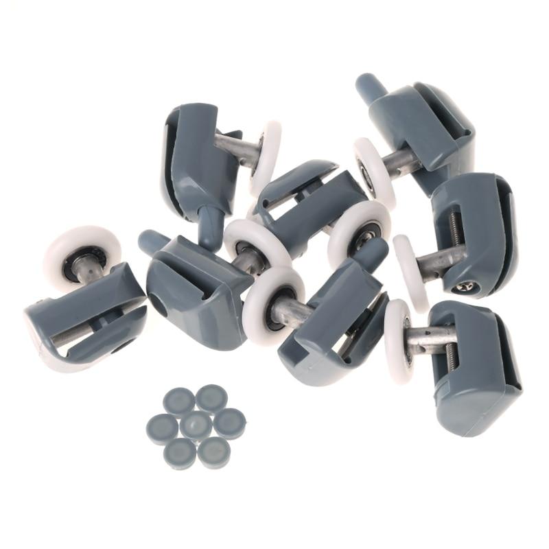 8 Pcs Single Shower Door Rollers / Runners / Wheels / Pulleys / Radio 25 mm Diameter Home Bathroom Replacement Parts L15