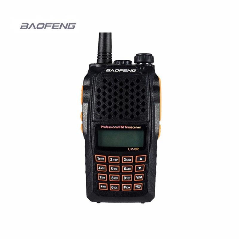 7W nuevo baofeng uv-6r Scanneres walkie talkie VHF/UHF 136-174 MHz/400-520 MHz hf transceptor cb DTMF CTCSS cb comunicador útil