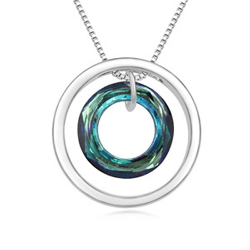 SHDEDE Cristal de Swarovski redonda collares colgantes para mujeres joyería clásica de alta calidad accesorios de marca de moda regalo-17504