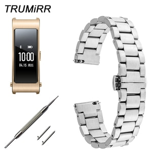 16mm Quick Release Watch Band for Huawei Talkband B3 Moto 360 2 42mm Women Butterfly Buckle Strap Stainless Steel Wrist Bracelet