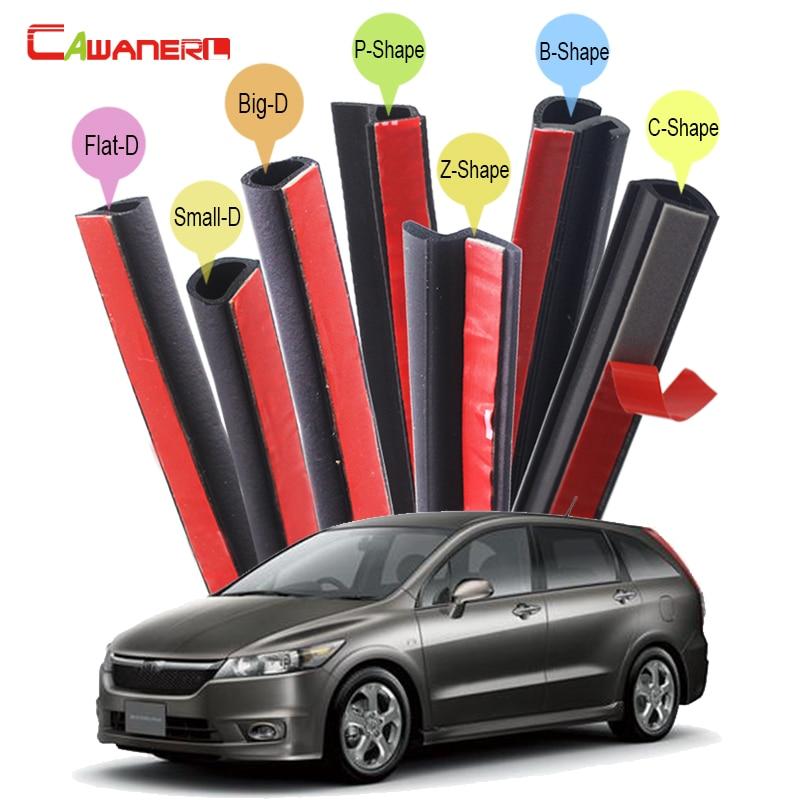 Kit de tira de sellado de marca Cawanerl para coche Weatherstrip Control de ruido autoadhesivo para Honda Stream City Ciimo Spirior Crider Fit