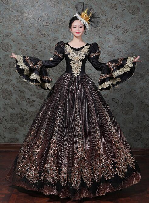 French Court Dress Rococo dress Baroque prom Medieval Women Vintage
